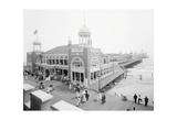 Atlantic City Steel Pier, 1910s Poster von  Vintage Photography