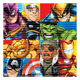 Marvel Super Hero Squad: Captain America, Hawkeye, Thor, Wolverine, Hulk, Nick Fury, and Iron Man Print