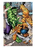 Marvel Adventures Super Heroes No.11: Hulk and Thing Fighting Prints by Ronan Cliquet