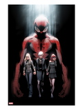 Ultimate Fallout 1 Cover: Spider-Man, Gwen Stacy, May Parker, and Mary Jane Watson Prints by Mark Bagley