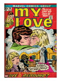Marvel Comics Retro: My Love No.18 Cover: Kissing Art