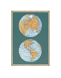 Map of the World's Hemispheres, two views Prints
