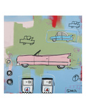 Pink Car Prints by Brian Nash