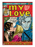 Marvel Comics Retro: My Love No.20 Cover: Kissing Prints