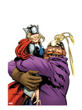 Thor The Mighty Avenger No.4 Cover: Thor and Volstagg Lifting Print by Chris Samnee