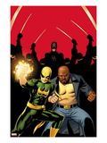 Daredevil 509 Cover:  Iron Fist, Luke Cage, and Daredevil Posing Prints by John Cassaday