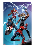 Ultimate Spider-Man 157 Cover: Spider-Man, Captain America, Thor, and Iron Man Posters by Mark Bagley