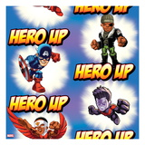 Marvel Super Hero Squad: Hero Up! Captain America, Nick Fury, Falcon, and Wonder Man Prints