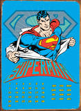 Superman Ripped Shirt Calendar Tin Sign