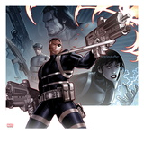 Secret Warriors 24 Cover: Nick Fury Standing with a Gun Prints by Paul Renaud