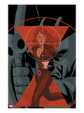 Widowmaker No.4 Cover: Black Widow Running Poster by Phil Noto