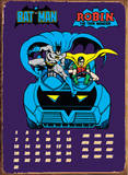 Batmobile Calendar Tin Sign