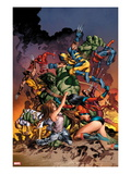 New Avengers No.20 Cover: Jessica Jones, Ms. Marvel, Skaar, Wolverine, Spider-Man and Others Prints by Mike Deodato