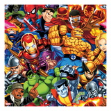 Marvel Super Hero Squad: Hulk, Colossus, Thor, Hulk, Wolverine, Iron Man, Spider-Man, and Falcon Print