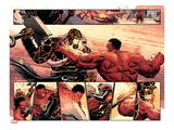 Hulk 37: Panels with Thing and Red Hulk Fighting Prints by Elena Casagrande