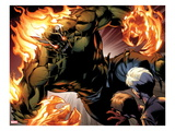 Ultimate Spider-Man 159: Green Goblin Flaming Print by Mark Bagley
