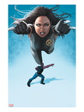 Avengers Academy No.23 Cover: X-23 Flying and Mettle Outstretched Posters by Rodin Esquejo