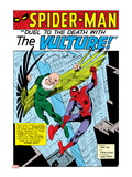 Spider-Man: Panel with Spider-Man and Vulture Fighting Prints
