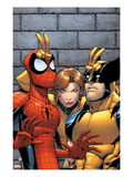 Marvel Adventures Spider-Man No.7 Cover: Spider-Man, Wolverine, and Shadowcat Standing Prints by Patrick Scherberger