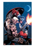 Avengers: X-Sanction No.1 Cover: Cable and Captain America Fighting Posters by Ed McGuinness