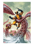 Wolverine/Hercules: Myths, Monsters &amp; Mutants 4 Cover: Trapped by a Sea Monster Poster by Joe Jusko