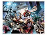 Annihilators 4: Quasar, Silver Surfer, Ikon, Beta-Ray Bill, Gladiator, Ronan The Accuser Prints by Tan Eng Huat