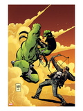 Marvel Universe vs. The Punisher No.2 Cover: Hulk Fighting Punisher Prints by Goran Parlov