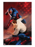 Amazing Spider-Man Presents: American Son No.4 Cover: American Son Fighting Prints by Marko Djurdjevic