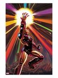 Avengers No.12 Cover: Iron Man Art by John Romita Jr.