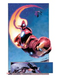 AVX: Vs No.1: Panels with Iron Man Flying Prints by Adam Kubert