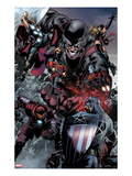 The Thanos Imperative 5: Captain America, Iron Man, Quasar, Thor, Giant Man, and Captain Marvel Posters by Miguel Angel Sepulveda