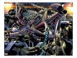Heroes For Hire No.6: Paladin Fighting and Kicking Prints by Brad Walker