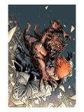 X-Factor No.208 Cover: Wolfbane and Shatterstar Falling Prints by David Yardin