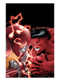 Uncanny X-Men No.11 Cover: Colossus and Red Hulk Fighting Posters by Greg Land