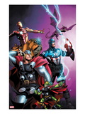Avengers vs. Pet Avengers 1 Cover: Thor, Captain America, Iron Man, Throg, Lockjaw, and Lockheed Prints by Ig Guara