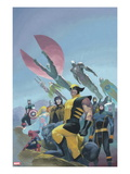 House of M MGC No.1 Cover: Wolverine, Cyclops, Gambit, Spider-Man, Captain America and Others Print by Esad Ribic