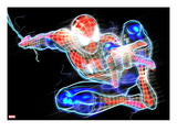 Spider-Man Neon Badge: Spider-Man Posing Posters