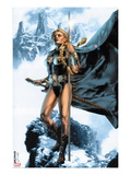Valkyrie No.1 Cover: Valkyrie Posing Posters by Jay Anacleto
