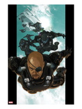 Ultimate Comics Ultimates 4: Nick Fury Falling through the Sky Art by Esad Ribic