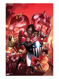 Avengers: The Childrens Crusade 9 Cover: Patriot, Dr. Doom, Cyclops, Magneto, and Others Prints by Jim Cheung