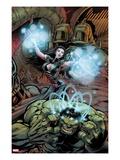 Incredible Hulks No.633 Cover: Hulk and Umar using Energy Print by Paul Pelletier