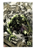 Incredible Hulks 621 Cover: Hulk Smashing Prints by Carlo Pagulayan