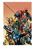 I am an Avenger No.1 Cover: Captain America, Thor, Wolverine, Hulk, Ant-Man, Vision, and Iron Man Posters av Leinil Francis Yu