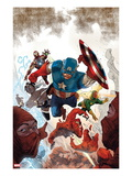 Avengers No.23 Cover: Captain America, Storm, Vision, and Iron Man Prints by Renato Guedes