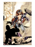 Fear Itself 2: Panels with Titania Standing with a Hammer Prints by Stuart Immonen