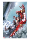 Avengers Annual 1 Cover: Iron Man and Wonder Man Fighting Posters by Gabriele DellOtto