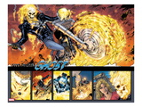 Ghost Rider No.0.1: Panels with Ghost Rider Flaming and Riding a Motorcycle Print by Matthew Clark