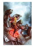 X-Men No.22 Cover: Colossus and War Machine Fighting Print by Adi Granov