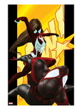 Ultimate Comics Spider-Man 5 Cover: Spider-Man and Spider Woman Print by Kaare Andrews