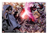 Avengers: The Childrens Crusade No.4: Scarlet Witch, Wiccan, Ms. Marvel, Dr. Doom, Magneto & Others Poster by Jim Cheung